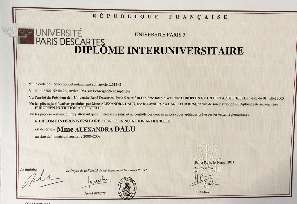 diplome universitaire nutrition